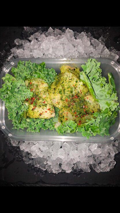 Garlic and herb cod