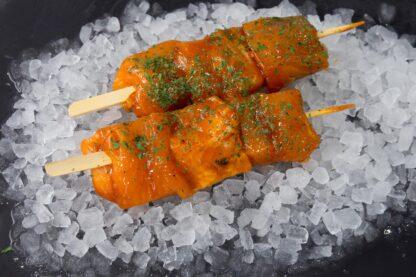 Salmon Teriyaki Kebab Close